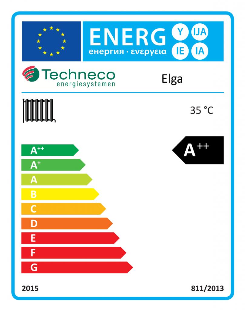 Energielabel Hybride warmtepomp